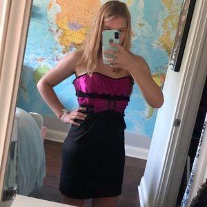 Tight strapless dress